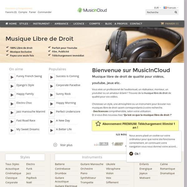 Musique libre de droit par MusicInCloud
