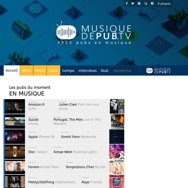 Musique de Pub.TV, toute la pub en musique