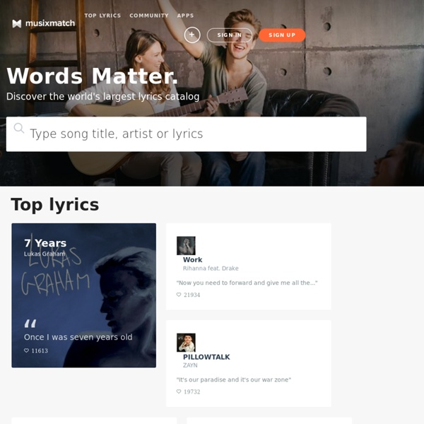 Musixmatch - The world's largest lyrics catalog