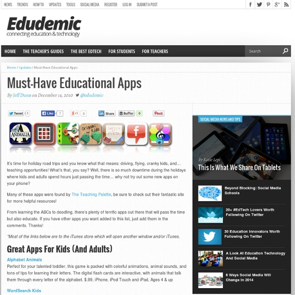 50 Must-Have Educational Apps