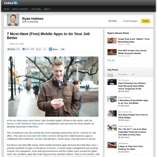7 Must-Have (Free) Mobile Apps to do Your Job Better