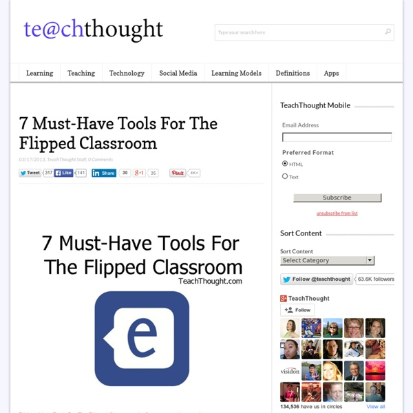 7 Must-Have Tools For The Flipped Classroom