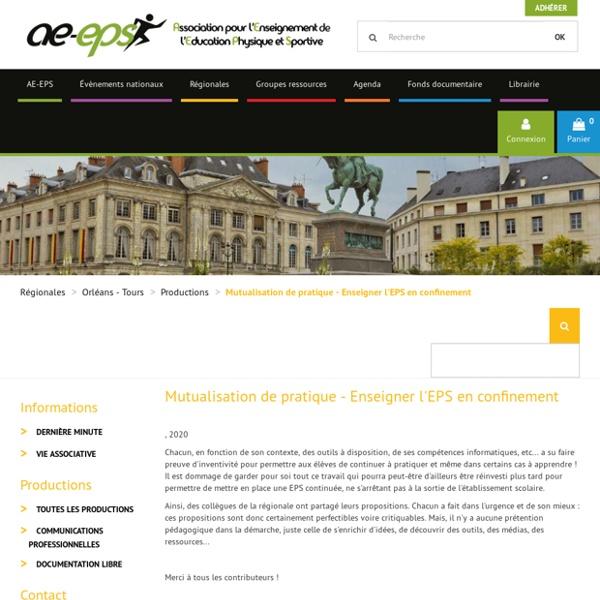 Site AEEPS - Enseigner l'EPS en confinement