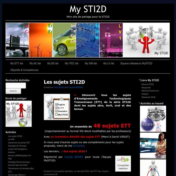 My STI2D, Mes ressources pour la STI2D