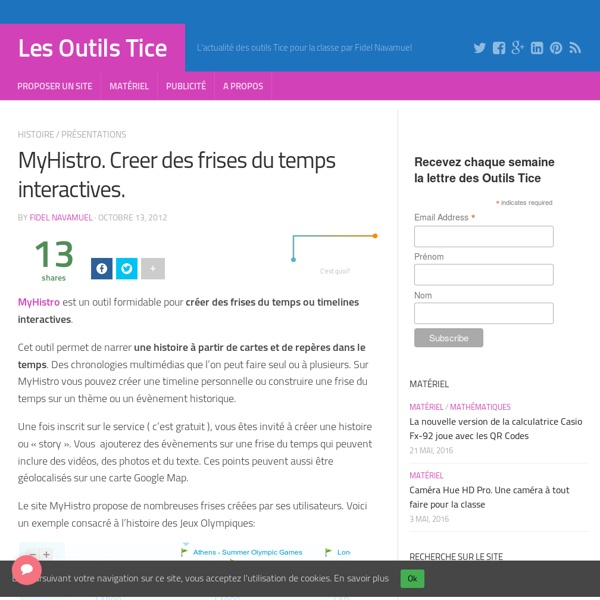 MyHistro. Creer des frises du temps interactives