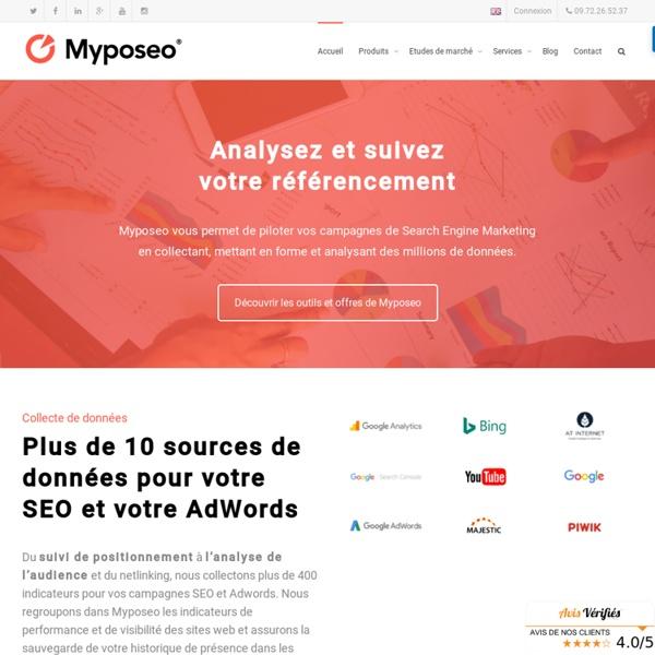 Outil d'analyse et de suivi du référencement -myposeo