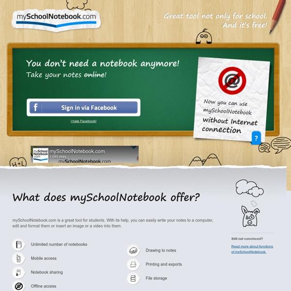 MySchoolNotebook.com