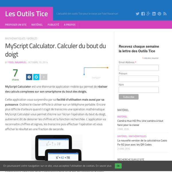 MyScript Calculator. Calculer du bout du doigt