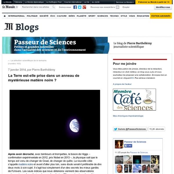 La Terre est-elle prise dans un anneau de mystérieuse matière noire ?