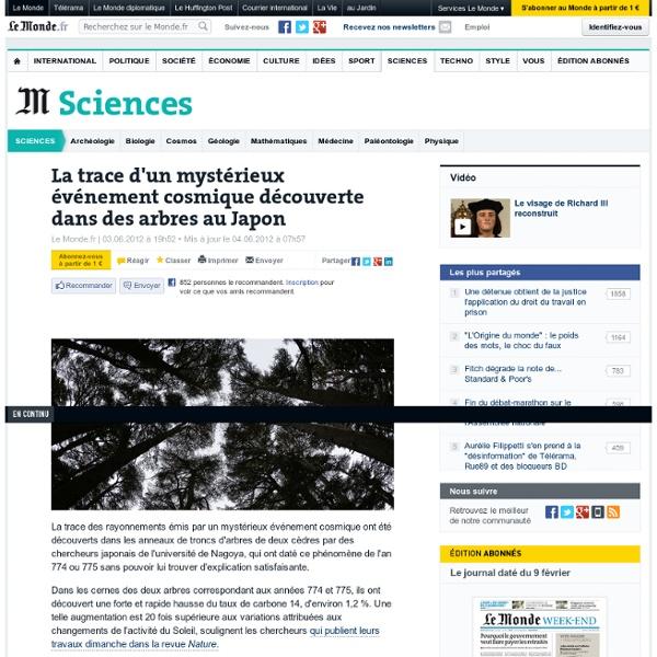 La trace d'un mystérieux événement cosmique découverte dans des arbres au Japon