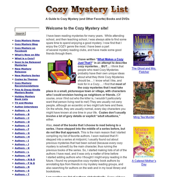 A Guide to Cozy Mystery (and Other Favorite) Books and DVDs