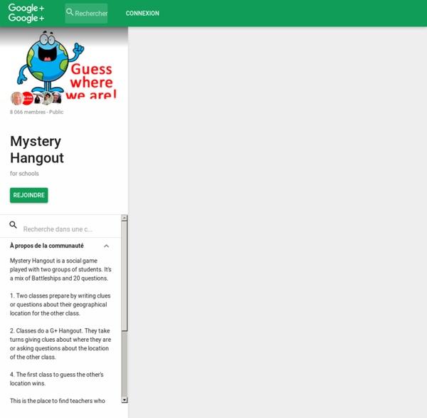 Mystery Hangout - Community