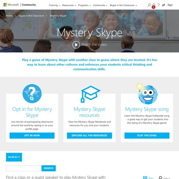 Mystery Skype - Microsoft in Education