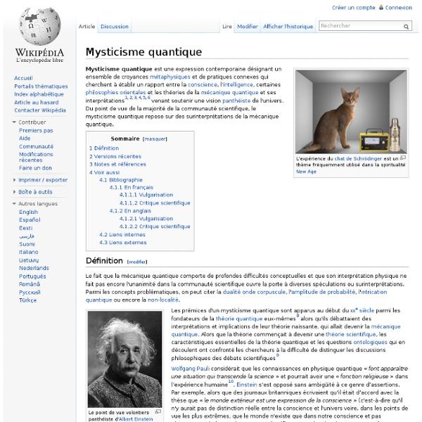 Mysticisme quantique