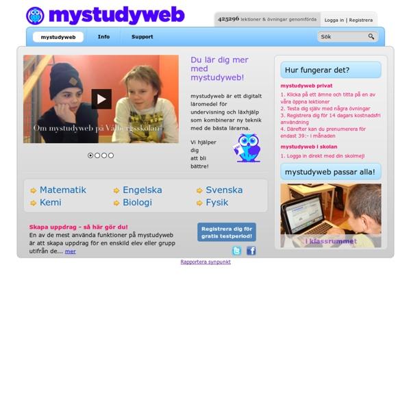 Läxhjälp och undervisning online
