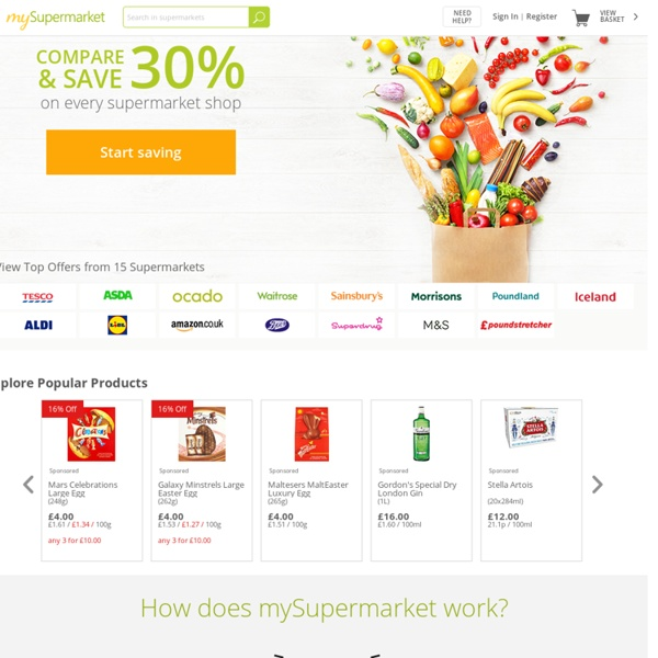 MySupermarket.co.uk - Compare supermarket prices
