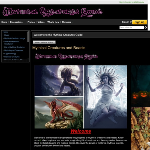Mythical Creatures and Beasts