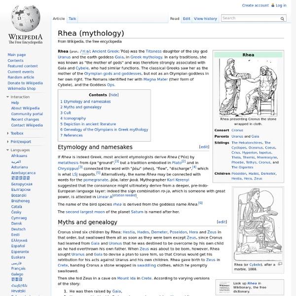 Rhea (mythology)