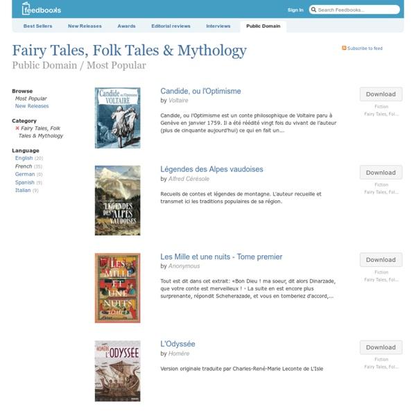 Contes de fées, coutumes et mythologie du domaine public par Feedbooks (en anglais)