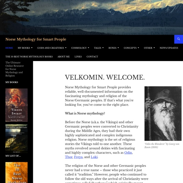 Norse Mythology for Smart People - The Ultimate Online Resource for Norse Mythology and ReligionNorse Mythology for Smart People