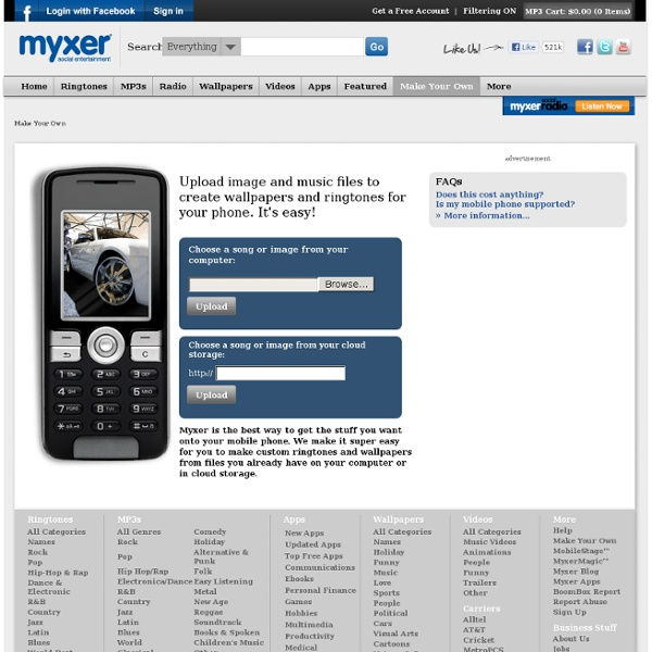 Home » Myxer Make Your Own Ringtones And More