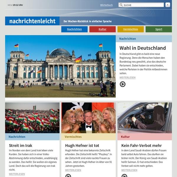 Nachrichtenleicht - Startseite