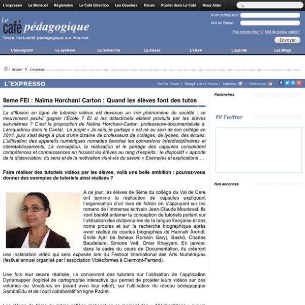 8eme FEI : Naïma Horchani Carton : Quand les élèves font des tutos