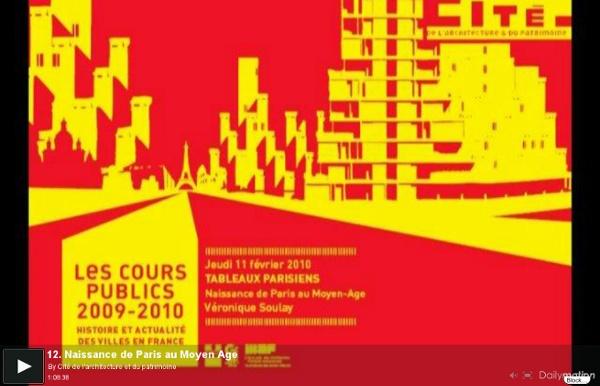 Conférence Paris au Moyen Age