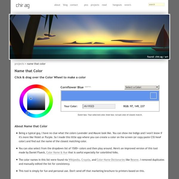 Name that Color - Chirag Mehta : chir.ag