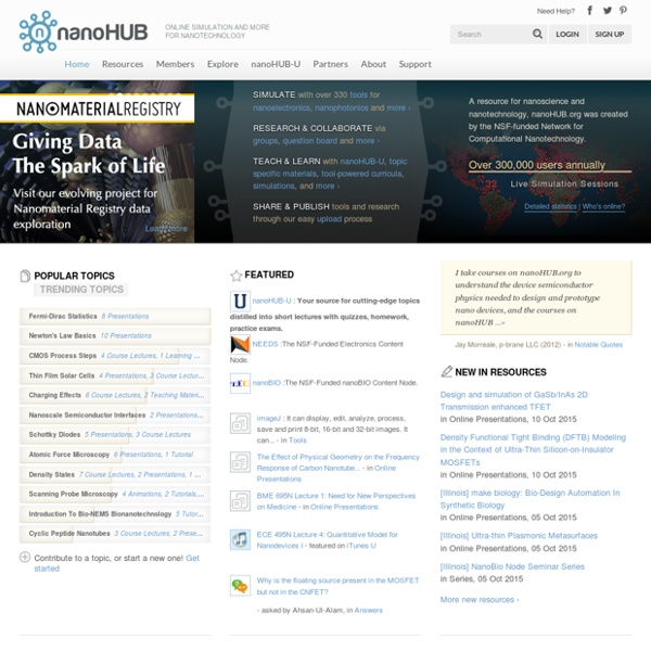 NanoHUB.org - Home