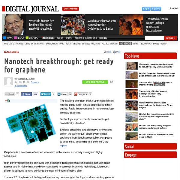 Nanotech breakthrough: get ready for graphene