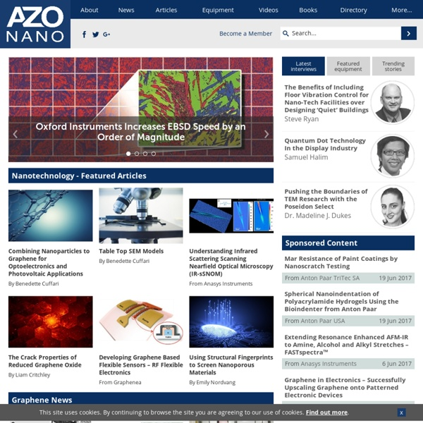 Nanotechnology News, Articles, Directory and more