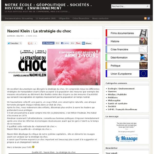 Naomi Klein : La stratégie du choc