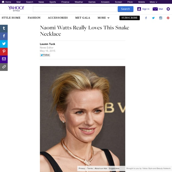 Naomi Watts Really Loves This Snake Necklace