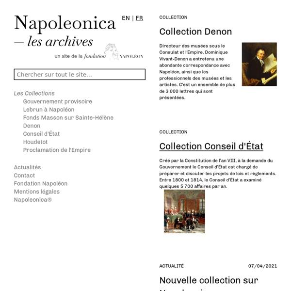 Archives Napoléoniennes