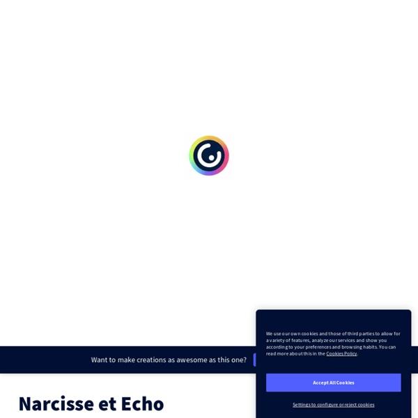 Narcisse et Echo, par Francoise Cahen