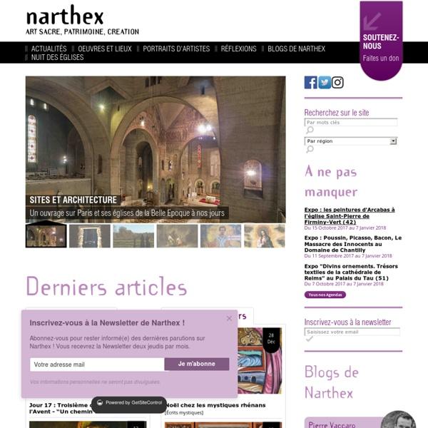 Narthex - Art Sacré - Patrimoine - Création