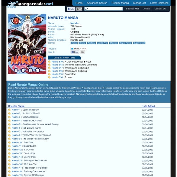 Naruto Manga - Read Naruto Online For Free