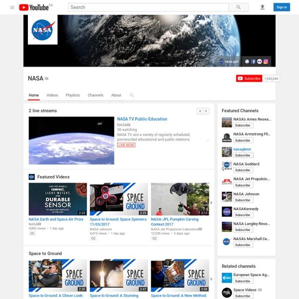 NASA YouTube videos