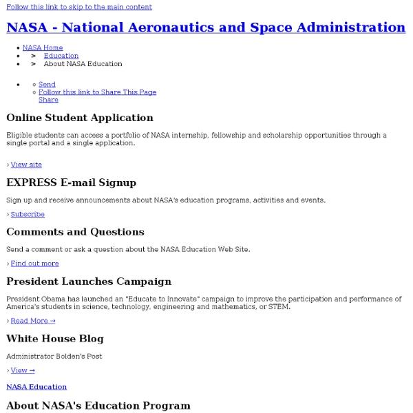 About NASA Education