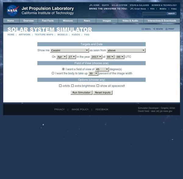 NASA - JPL Solar System Simulator