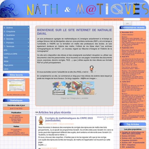 NATH ET MATIQUES