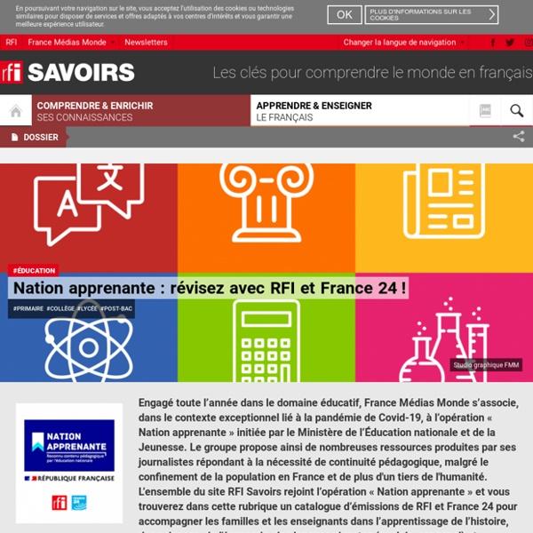 Nation apprenante : révisez avec RFI et France 24!