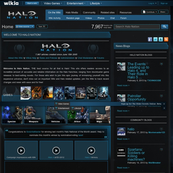 Halo Nation - The Halo Franchise, Bungie, 343 Industries and more