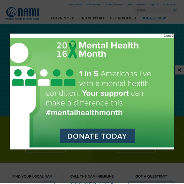 NAMI: National Alliance on Mental Illness - Mental Health Support, Education and Advocacy