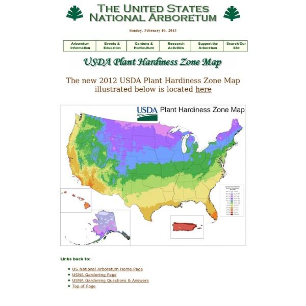 National Arboretum - USDA Plant Hardiness Zone Map