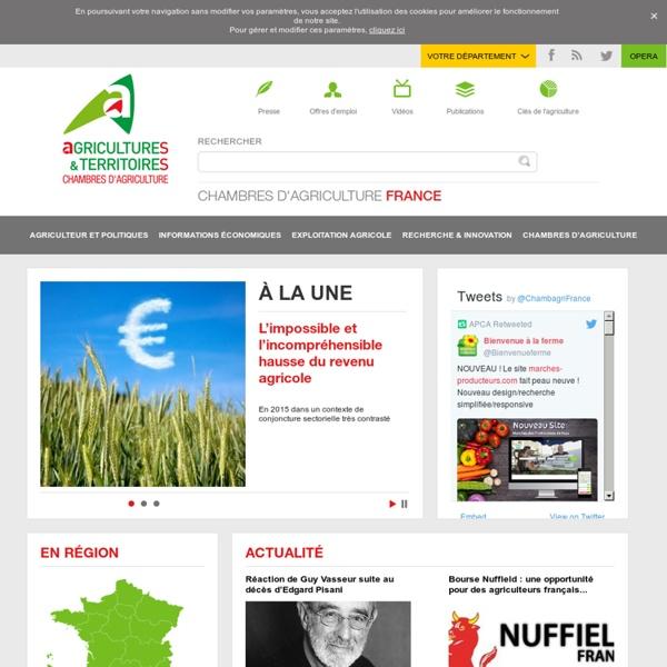 Site national des Chambres d'agriculture