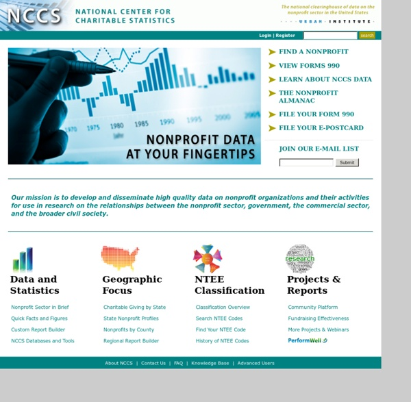 Data & research on the US Nonprofit Sector