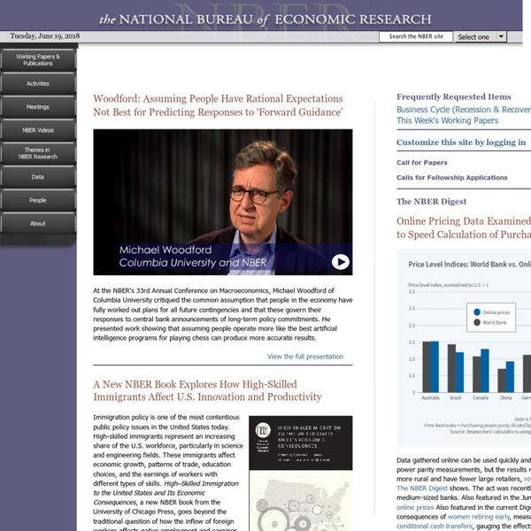 The National Bureau of Economic Research