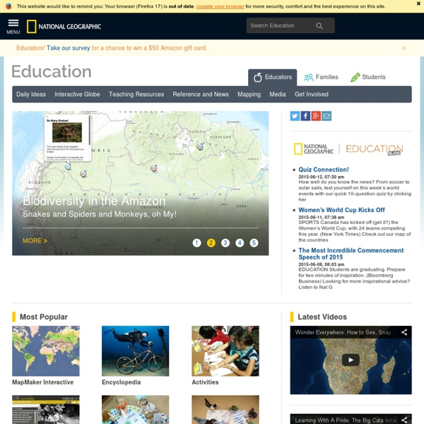 Teachers Homepage - National Geographic Education